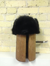 "Dyed Black Muskrat ""Jockey Hat"""