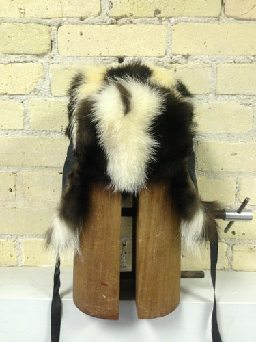Skunk Fur Men's Jockey Style Hat