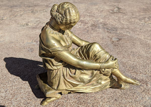 James 'Jean-Jacques' Pradier Bronze of Sappho