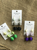 Daffnee's Boutique 3 Ball Thread Earring