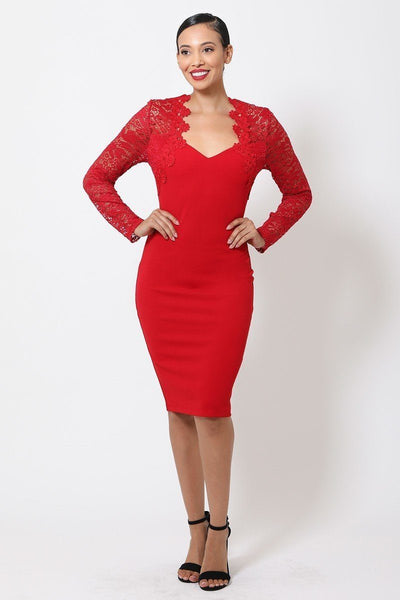 Crochet-lace Bodycon Dress