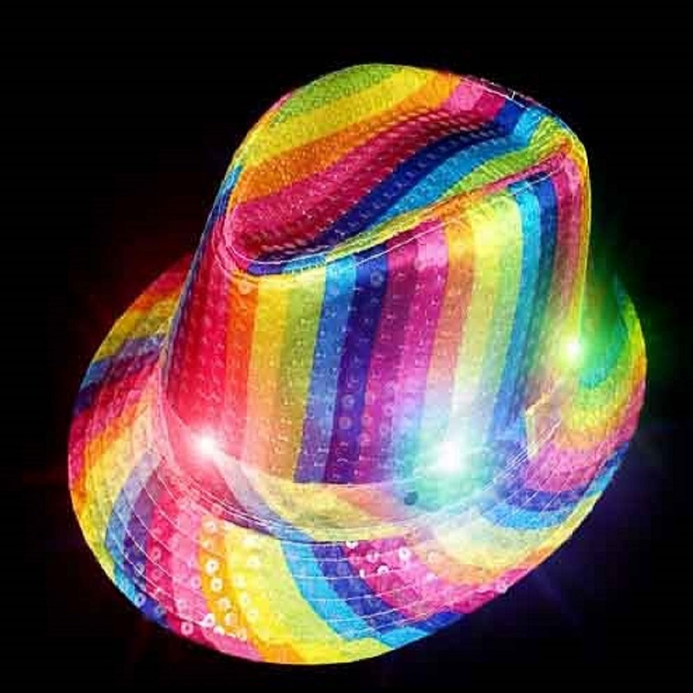 ddcc7acf7be8db Pride Sequin Flashing Fedora Hat - Rainbow – The Electric Mammoth