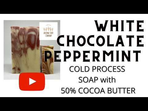 White chocolate peppermint soap