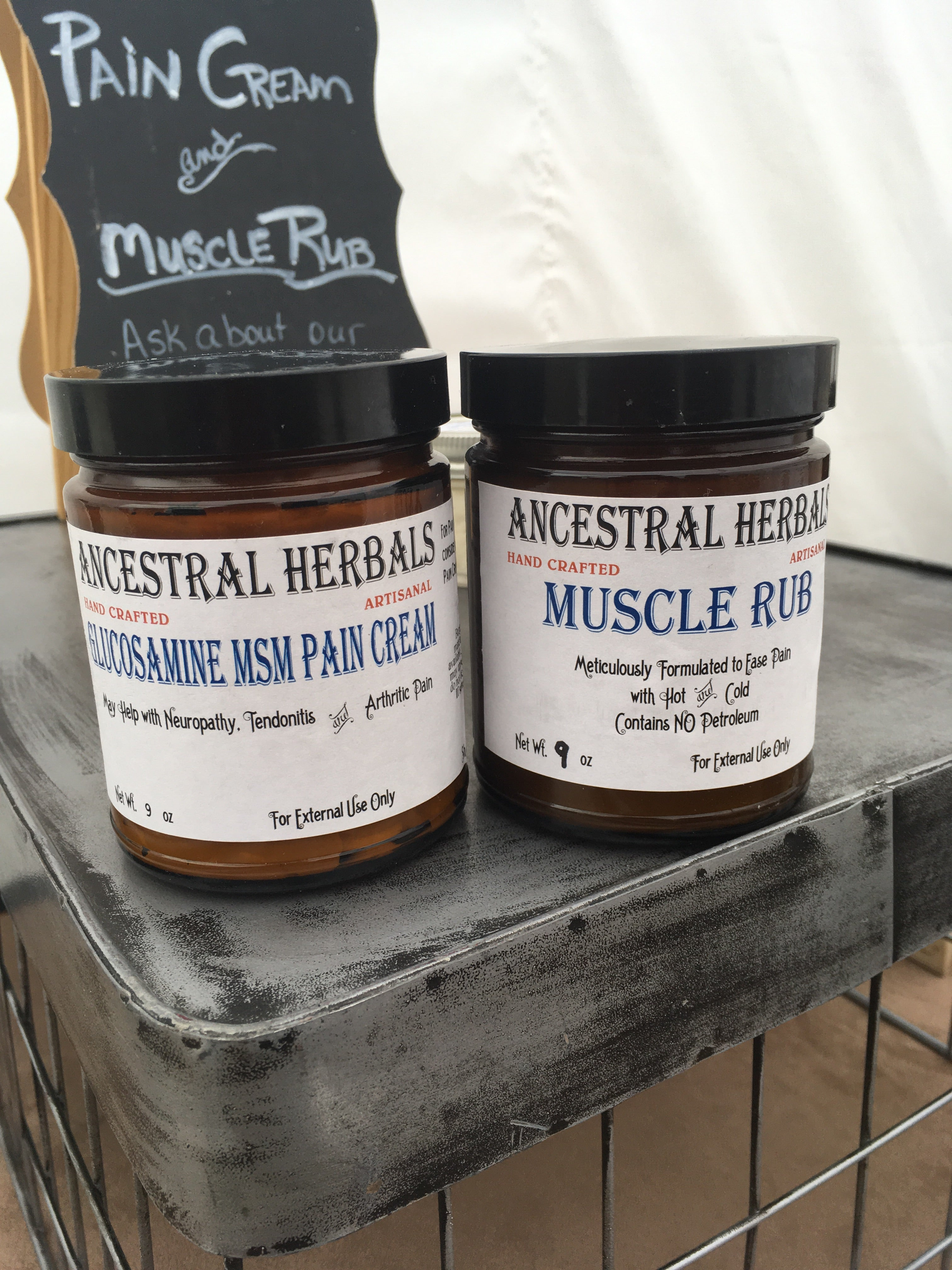 Pain cream + Muscle Rub set