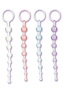 Shanes 101 Intro Anal Beads 7.5 Inch Clear - Anal Beads by California Exotic Novelties - Private Gifts Manila
