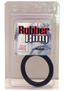 Rubber Cock Ring Medium 2 Inch Diameter Black - Cock Rings by California Exotic Novelties