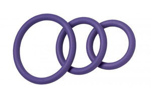Nitrile C Ring Set - Purple - Cock Rings by Spartacus