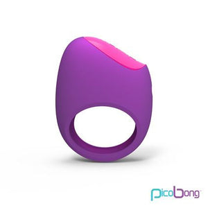 Remoji Lifeguard Ring Vibe Purple - Couples Cock Rings