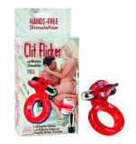 Clit Flicker With Wireless Stimulator - Red - Cock Rings by California Exotic Novelties