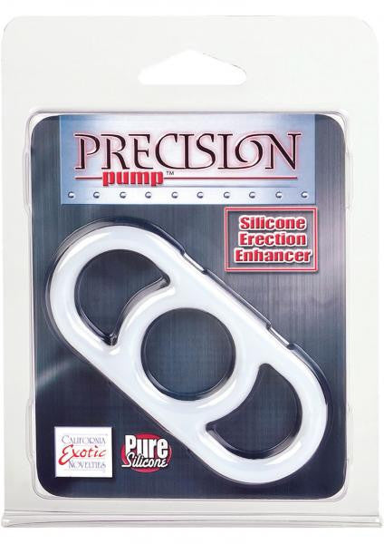 Precision Pump Erection Enhancer Silicone Cock Ring Clear - Penis Enhancers by California Exotic Novelties - Private Gifts Manila