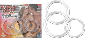 Magnum Force Clear - Cock Rings by Nasstoys