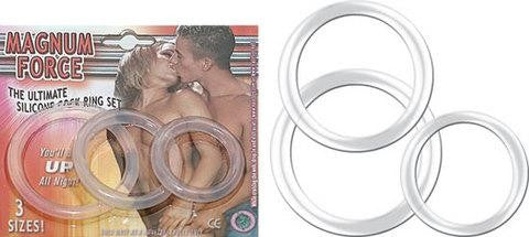 Magnum Force Clear - Cock Rings by Nasstoys - Private Gifts Manila