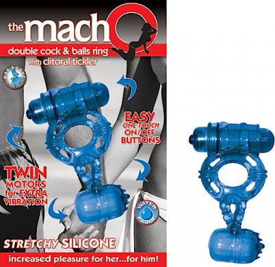 Macho Double Cock and Balls Ring - Cock Rings by Nasstoys - Private Gifts Manila