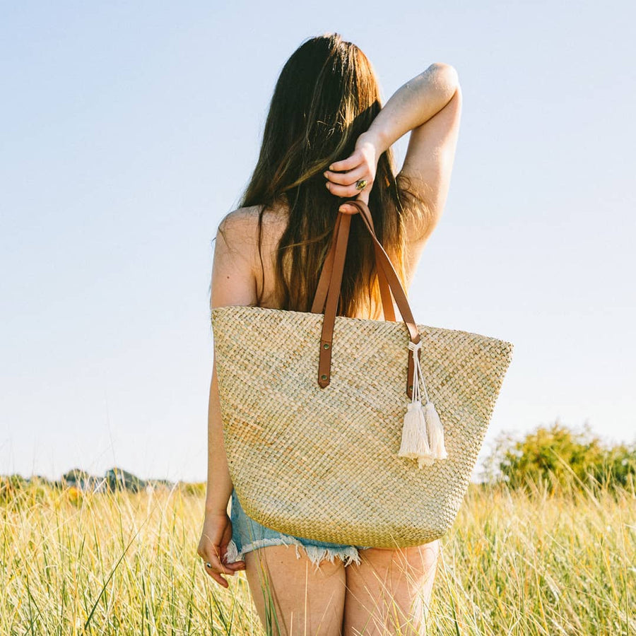 Natural Seagrass Market Tote
