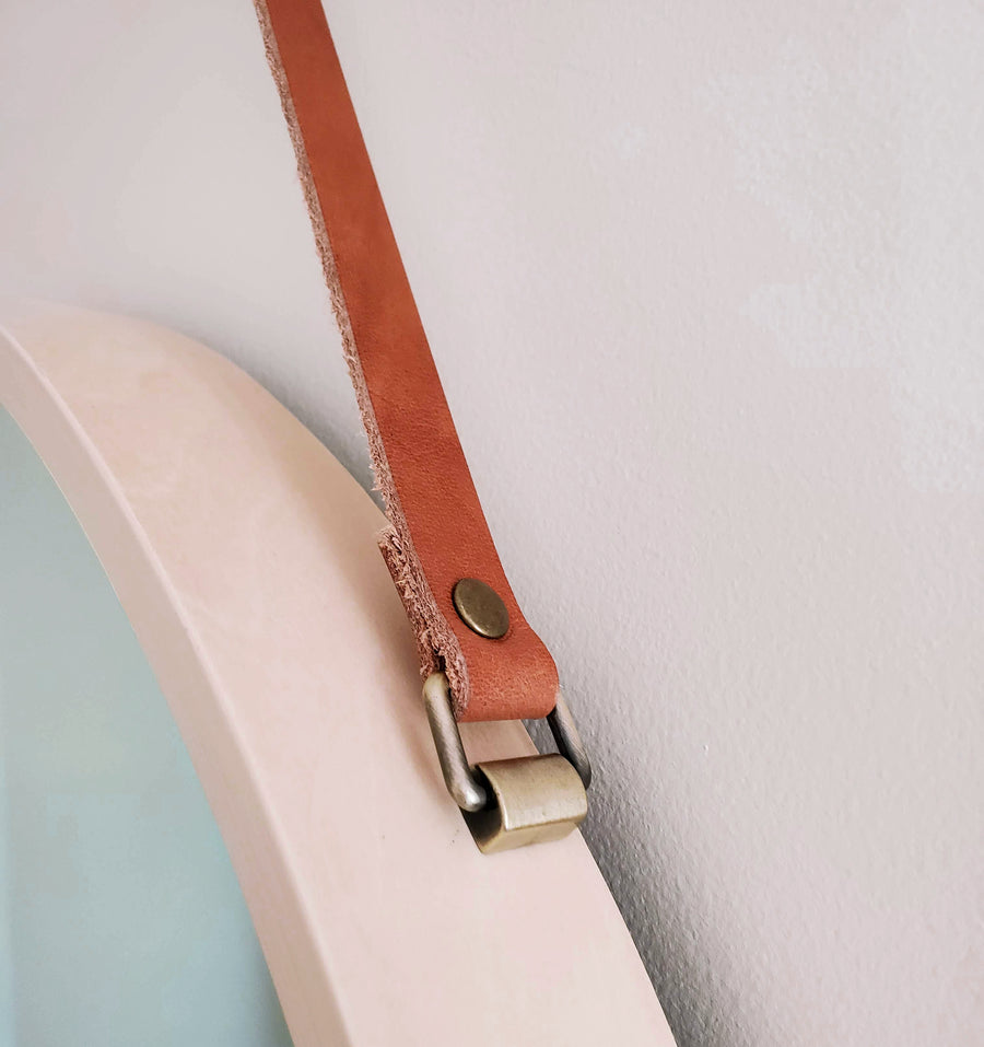 Birch Mirror Leather Strap