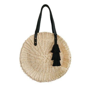 Round Tote Natural / Black