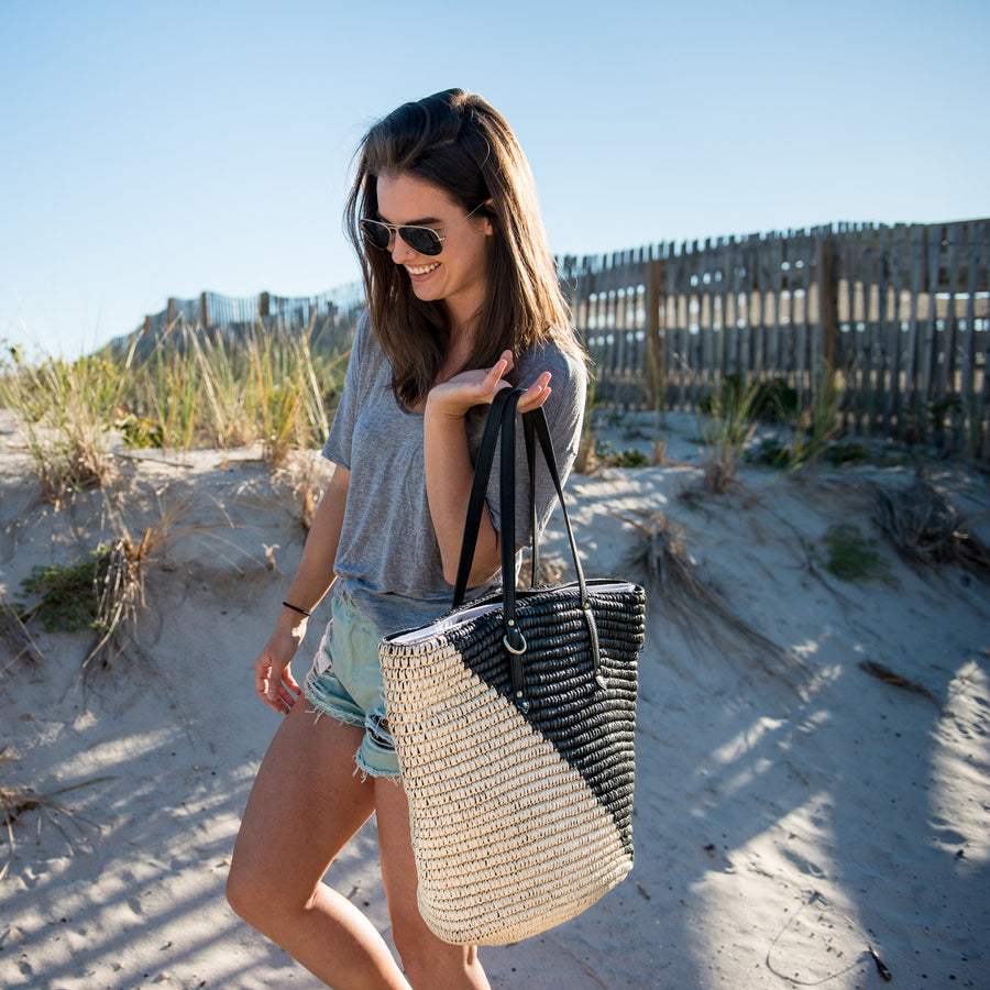 Low Tide Tote Black/Natural