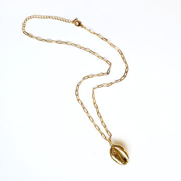 Gold-Dipped Shell Necklace