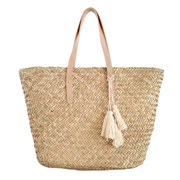 Natural Grass Market Tote