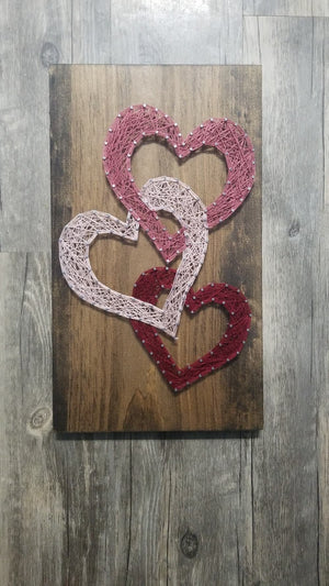 3 Hearts String Art