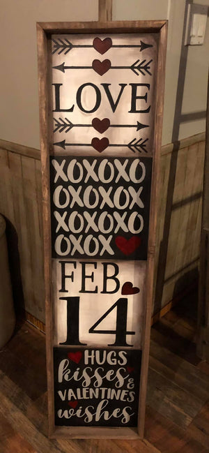 "48"" Tall Valentines Day Porch Sign February 2, 2021"