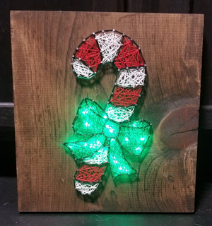 Candy Cane String Art