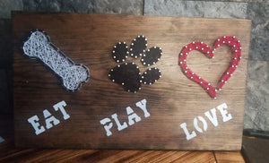 Eat Play Love String Art February 16, 2020