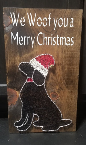 Christmas Dog String Art