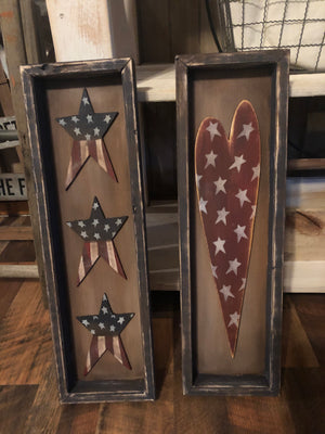 Heart and Stars Shadow Boxes May 15, 2020 (SOLD OUT)