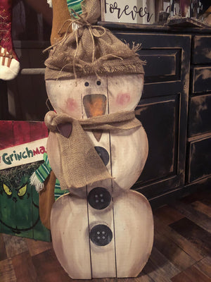 Primitive Snowman February 7, 2020 (SOLD OUT)