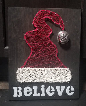 Santa Hat String Art