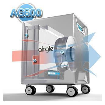 Airgle PurePal AG600 HEPA Air Purifier Air Flow Simulation