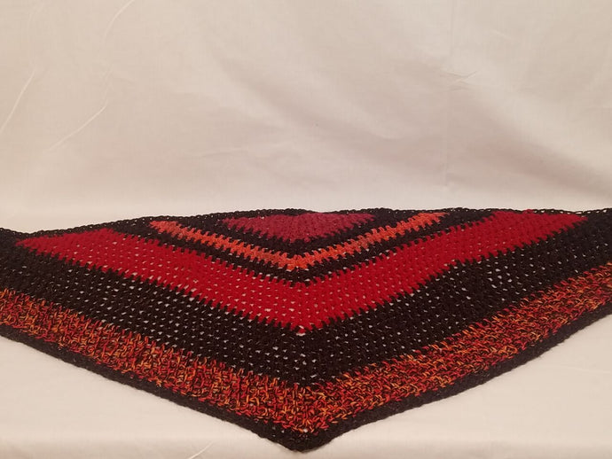 Hand Crocheted Triangle Scarf