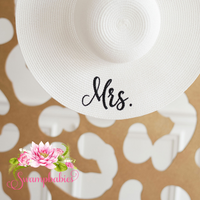 White Mrs. Floppy Hat