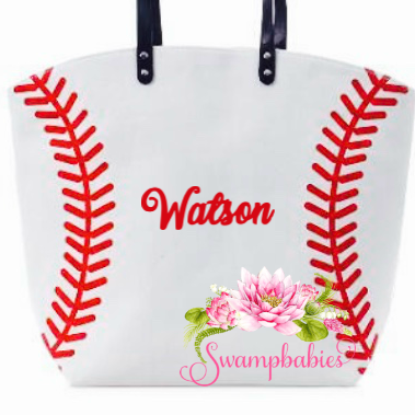 Baseball tote - Embroidered Name