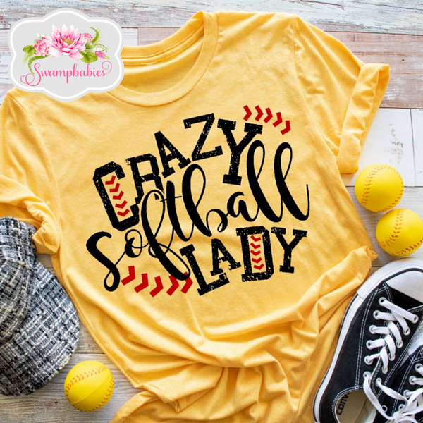 Crazy Softball Lady