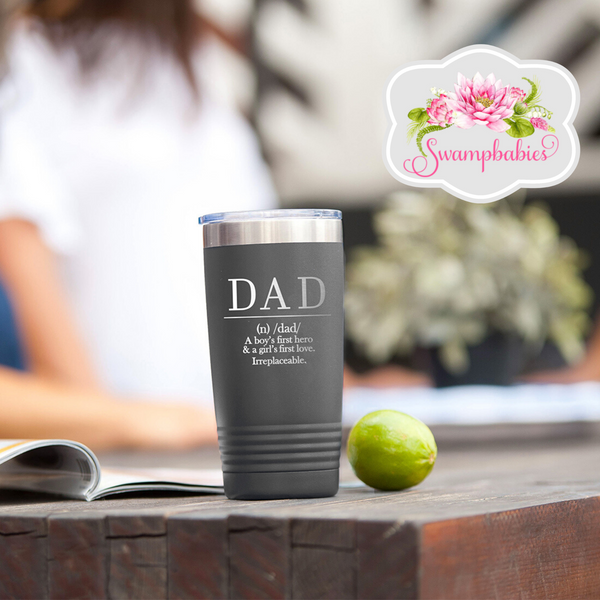 Definition Of Dad 20oz Grey Insulated Tumbler