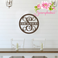 Family Name Design Wood Monogram
