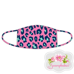 Hot Pink Leopard Adult Face Mask