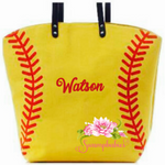 Softball tote - Embroidered Name