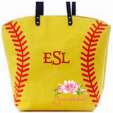 Softball tote - Embroidered Monogram