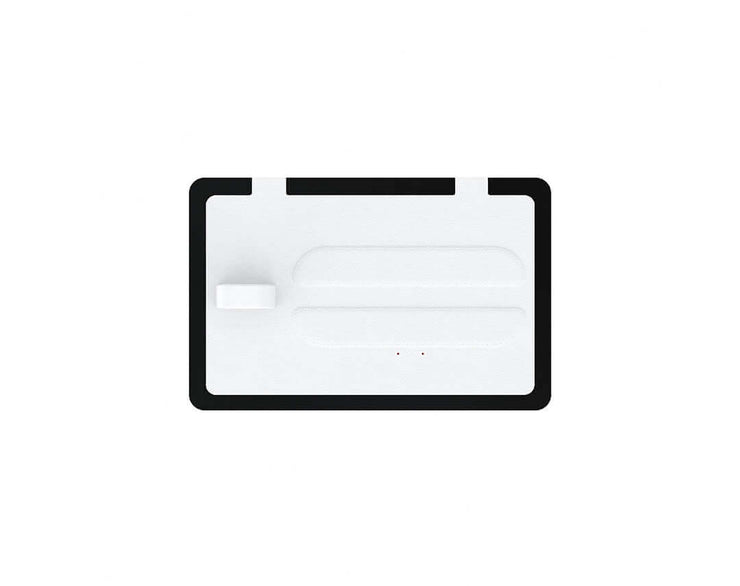 NYTSTND TRIO White leather top, Black base, MagSafe wireless charger, 5-coil full surface charging area