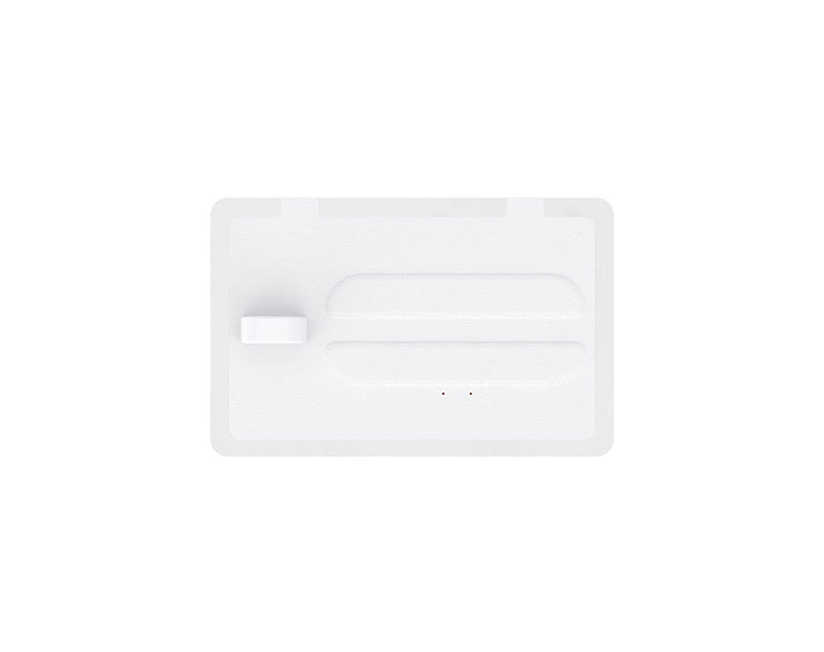 NYTSTND TRIO White leather top, White base, MagSafe wireless charger, 5-coil full surface charging area