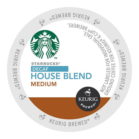 Starbucks Coffee Keurig K-Cups, Decaf House Blend