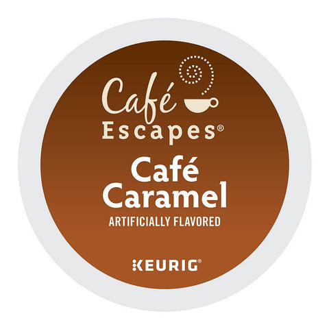 Cafe Escapes Coffee Keurig K-Cups, Cafe Caramel