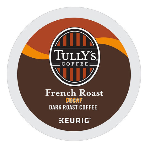 Tully's Coffee Keurig K-Cups, Decaf French Roast