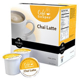 Cafe Escapes Coffee Keurig K-Cups, Chai Latte