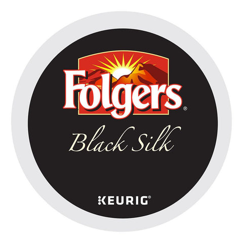 Folgers Coffee Keurig K-Cups, Black Silk Dark Roast