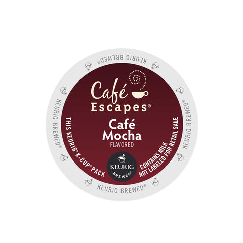 Cafe Escapes Coffee Keurig K-Cups, Cafe Mocha
