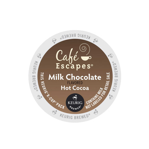 Cafe Escapes Coffee Keurig K-Cups, Milk Chocolate Hot Cocoa